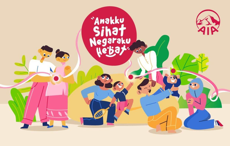 AIA's 'Anakku Sihat, Negaraku Hebat' campaign supports parents in raising healthy and happy children.