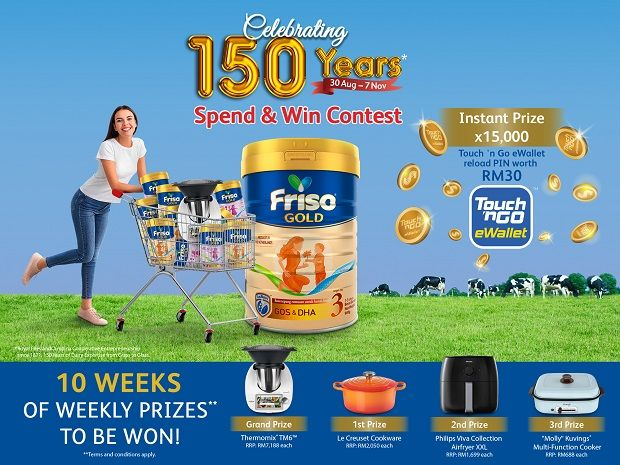 Malaysian families are invited to join in the celebration with the Friso Gold Spend and Win contest.