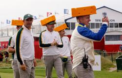 Golf-'Say cheese', Europeans court Packers fans at Ryder Cup