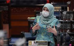 Over 9,000 domestic violence cases recorded since MCO began, Rina Harun tells Parliament