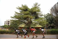 Dodging lorries, lava and war, Congo's skaters feel reborn