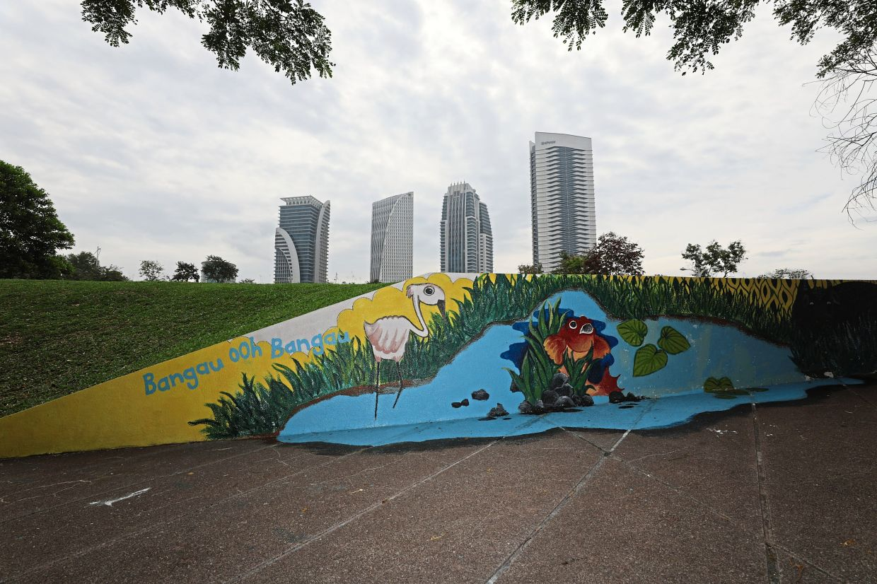 PPj has planned excursion programmes for delegates. Among the unique sites they may encounter in Putrajaya is this Bangau Oh Bangau mural inspired by a popular Malay children's song.