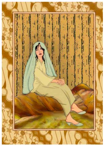 'Si Perawan' by Delaila Iskandar Richard (digital illustration, 2021).  Photo: Handout
