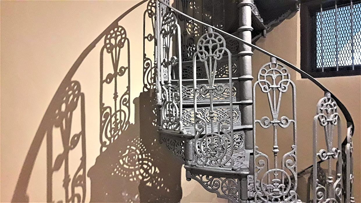The spiral staircase is believed to be the tallest Fleur de Lis design in Malaysia.