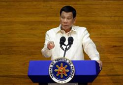 Satisfaction with Philippines' Duterte fell 21 pct from Nov-June despite strong majority support- poll