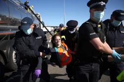 Climate change activists briefly block UK's Port of Dover