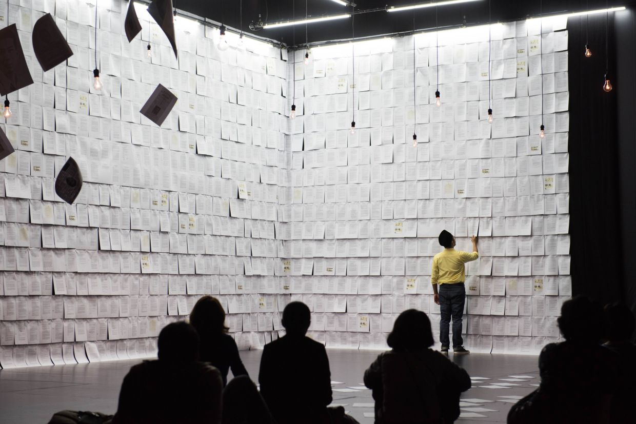 Mark Teh will be discussing Five Arts Centre's works, including the 'Baling' series. Photo: Filepic