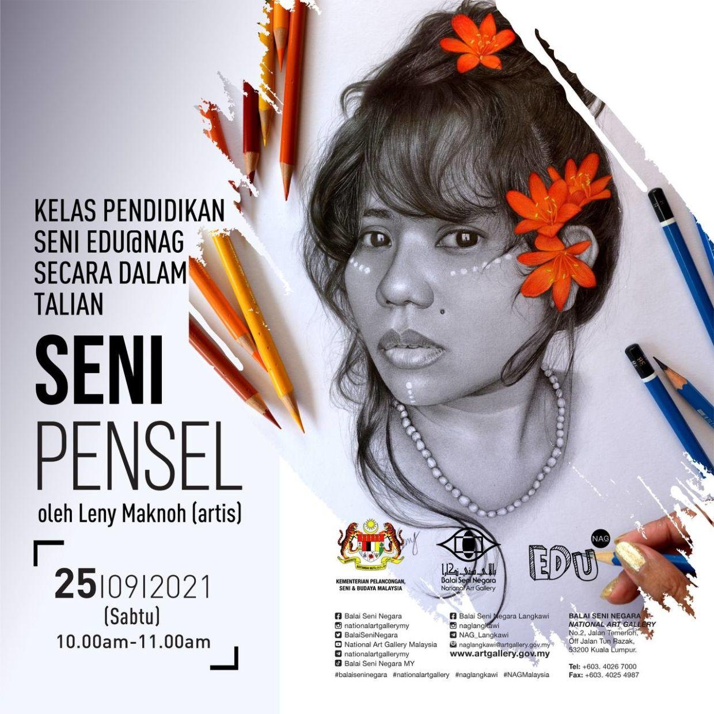 Orang Asli artist Leny Maknoh will teach you how to draw hyperreal pencil art. Photo: Handout
