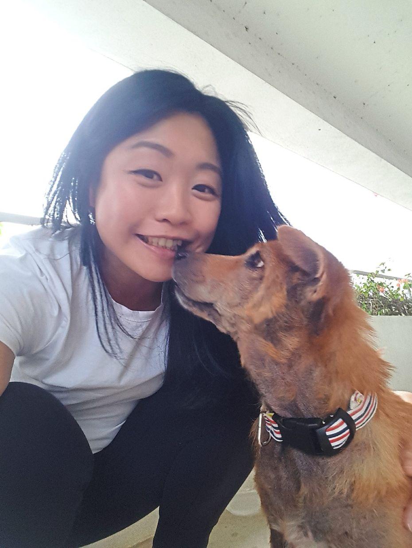 Janice Shun with her pet, Asli, who loves cuddle times. Photo: Janice Shun