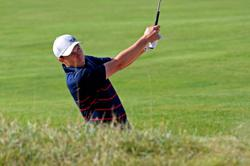 Golf-Spieth nearly ends up in Lake Michigan after remarkable Ryder Cup shot