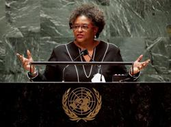 Get up, stand up: Barbados leader invokes Marley to goad U.N
