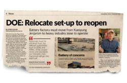 Jenjarom battery factory gets go-ahead to reopen