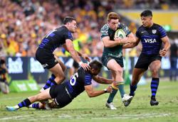 Rugby-Australia see off Argentina to seal third straight win