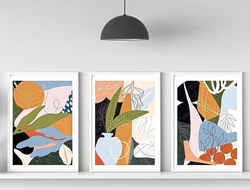 Shan Shan's 'I Am Jungle' print art series, which is inspired by flora and fauna. Photo: Outlet KL