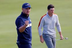 Golf-DeChambeau to face Garcia in Sunday's singles as U.S. close on Ryder Cup win
