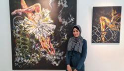 Gaza artist mixes beauty with pain in her ballet paintings