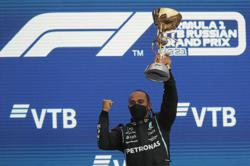 Lewis Hamilton is first F1 driver to win 100 races with victory in Russia
