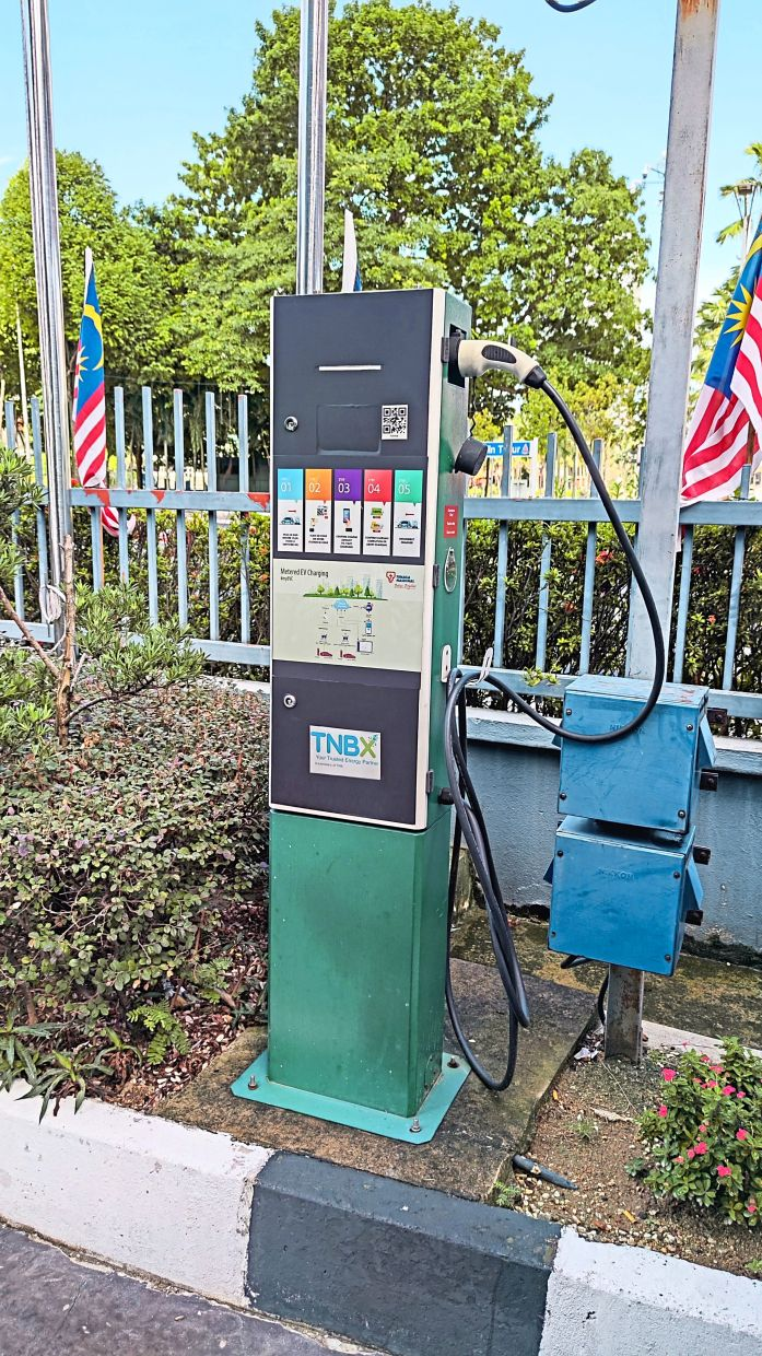 TNB wants to take on an enabler role in creating demand for higher EV adoptionin Malaysia. An example of TNB's EV charging station for visitors at one of its offices in Petaling Jaya, Selangor.