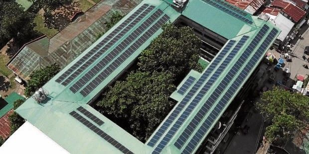 Catholic dioceses across the country are making a shift to solar energy to power up their buildings, from parishes to seminaries, convents and schools, such as St. Joseph College in Maasin City, Leyte province.