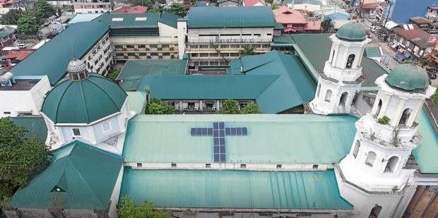 In Malabon City, San Bartolome Parish Church has installed solar panels on its rooftop.