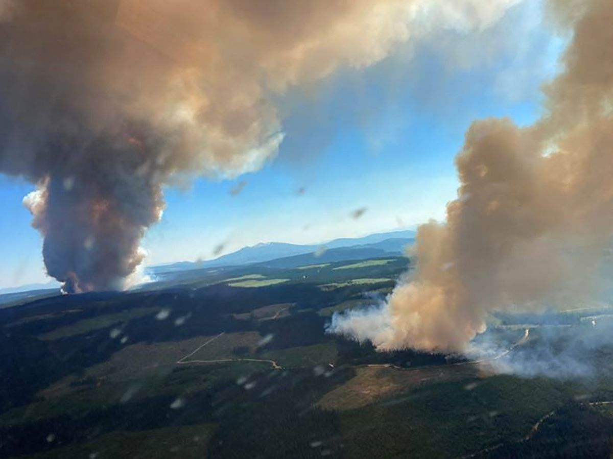 Wildfire in British Columbia in June, due to sweltering conditions experts attribute directly to climate change. — AFP