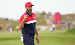 Golf-Johnson thrives in elder statesman role for U.S. Ryder Cup team