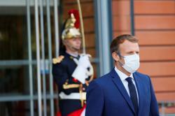 Macron egged by protester shouting 'Vive la revolution'