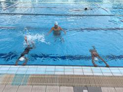 Swimmers enjoying time in the pool again