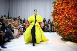 Yellow, flowers, frills? Everything bright and beautiful at London Fashion Week