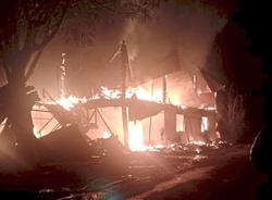 Mum saved from fire... but dad perished