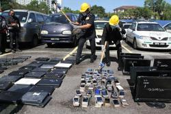 Case items worth RM150k destroyed by Cheras police