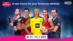 Live sports action on three new Astro channels