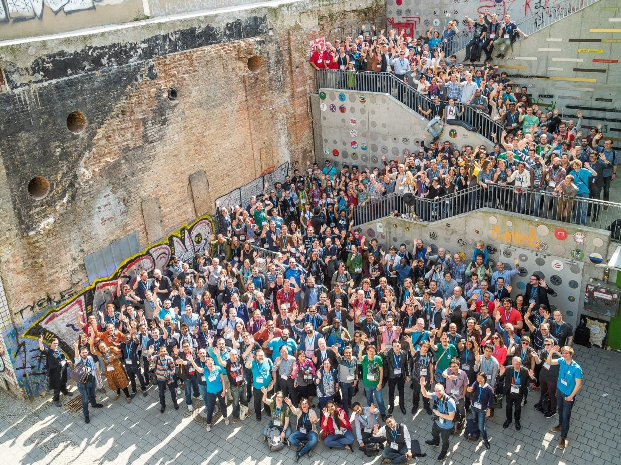 Wikimedia Conference 2017 group photo in Berlin, Germany.