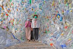 Watch: Indonesian museum made from plastic waste highlights ocean crisis