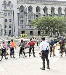 Police remind cyclists in Putrajaya to follow traffic rules