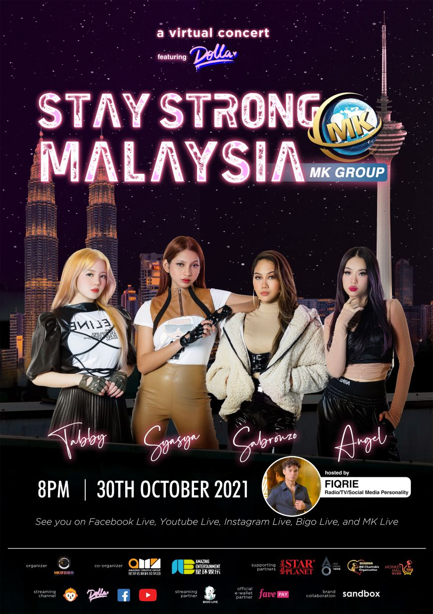 Stay Strong Malaysia happens on Oct 30 at 8pm.