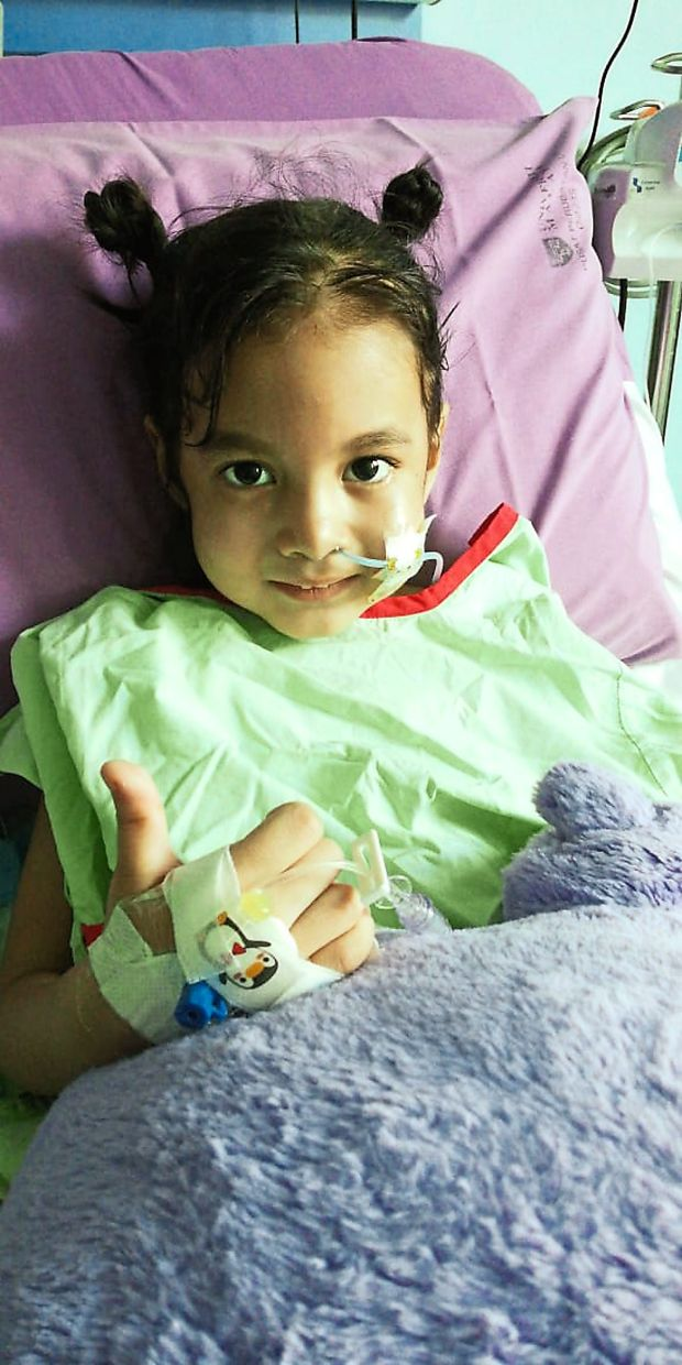 Zephanie was hospitalised for Crohn's Disease (bleeding in intestines) compounded by Thrombosis (a blot clot in brain), which resulted in her having a stroke. Photo: JK Joseph