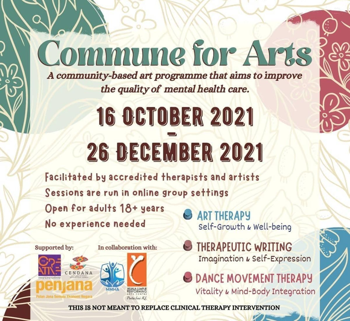 The Commune For Arts three-month programme. Photo: Handout