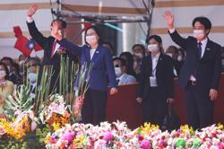 Taiwan leader says island will not bow to China during country's National Day celebrations