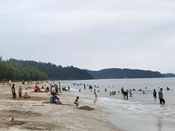 Mersing's Air Papan Beach returns to a hive of activity