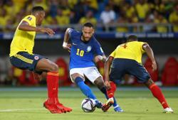 Soccer-Colombia end Brazil's winning run in engrossing 0-0 draw