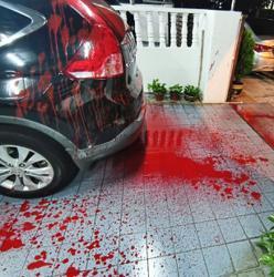 Public complaints officer's family home vandalised