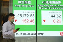 Asian shares fall as rising energy costs fan inflation fears