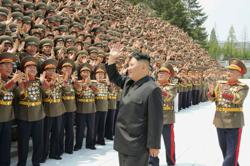 N. Korean army gives brutal show of 'strength, bravery and morale'