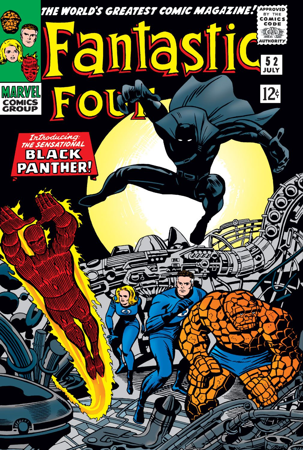 Black Panther made his first appearance on the pages of Fantastic Four.