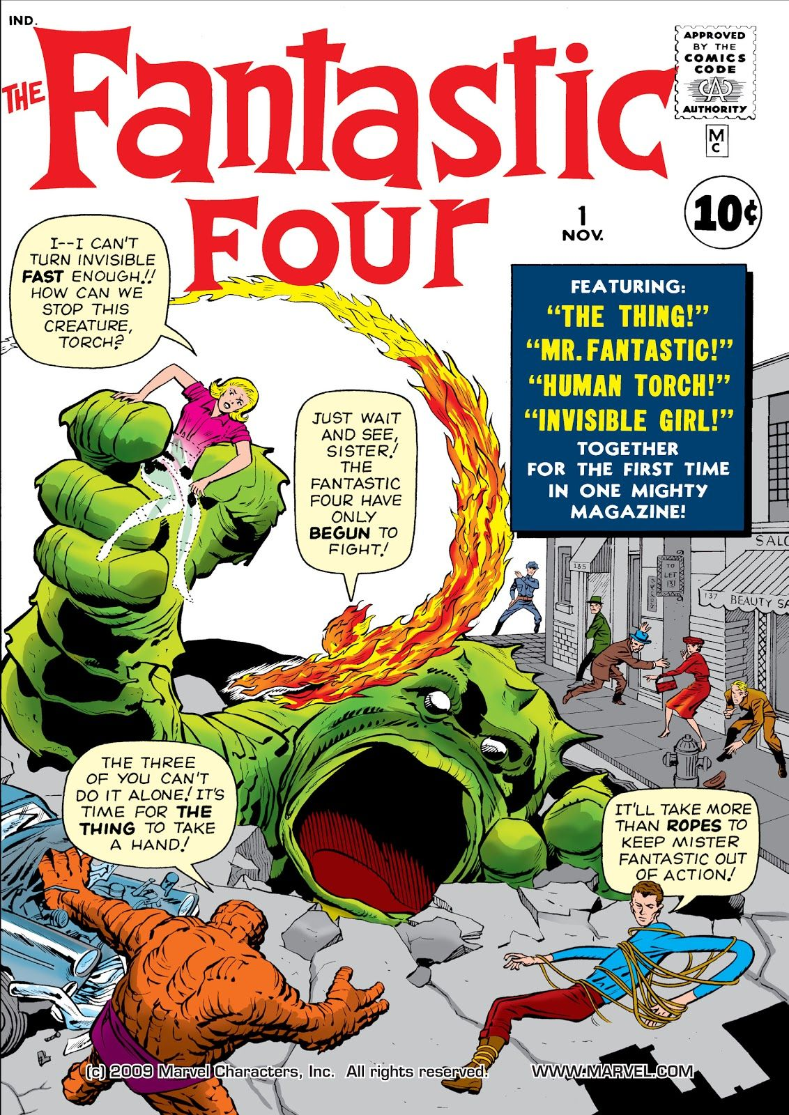 The Fantastic Four making its first appearance in 1961's Fantastic Four #1.