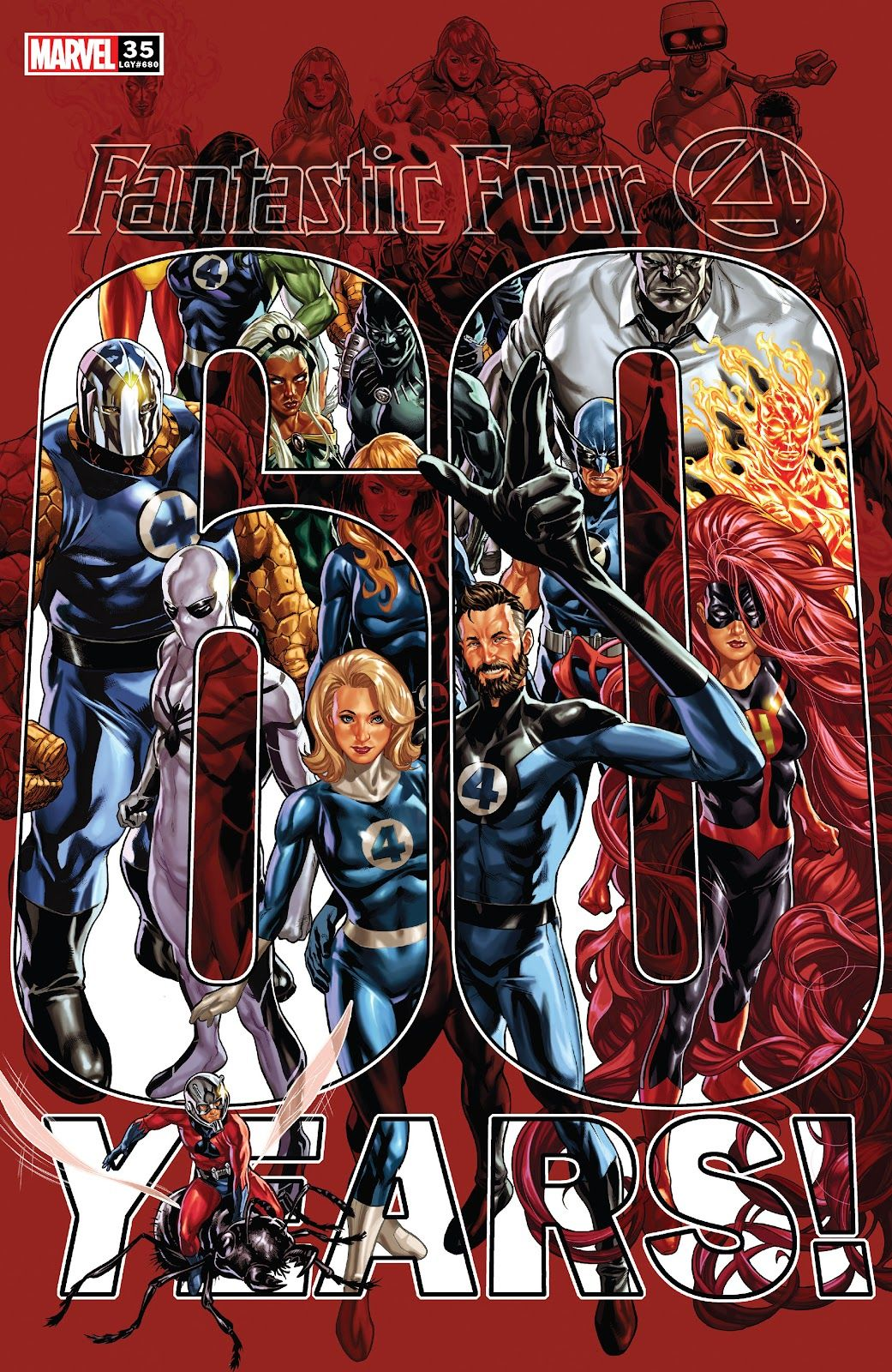 A special issue of 'Fantastic Four' #35 was released to commemorate the team's 60th anniversary.