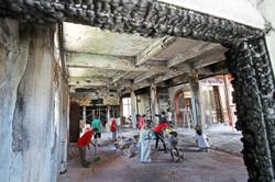 Temple repairs to be completed soon