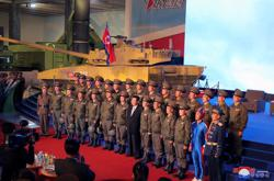 Out of the blue: 'Captain DPRK' brightens up North Korean defence exhibition