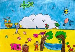 Starchild: Malaysian children enjoy having fun on the beach